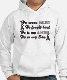 He is my Son grey Angel Hoodie
