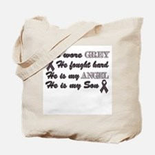 He is my Son grey Angel Tote Bag