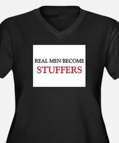 Real Men Become Stuffers Women's Plus Size V-Neck