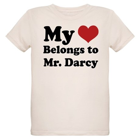 Mr. Darcy Lover Organic Kids T-Shirt