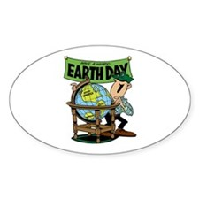 Have a Happy Earth Day Oval Decal