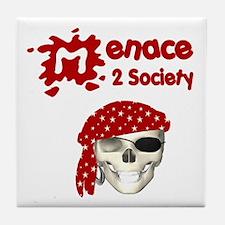 Menace to Society Tile Coaster