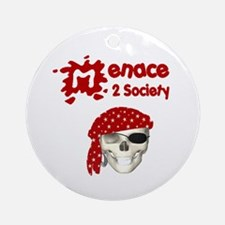 Menace to Society Ornament (Round)