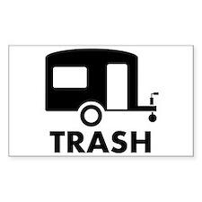 trailer trash Rectangle Decal
