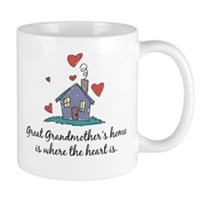 Great Grandmother's Home is Where the Heart Is Mug