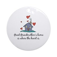 Great Grandmother's Home is Where the Heart Is Orn