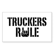 Truckers Rule Rectangle Decal