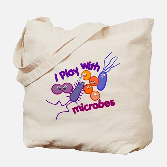 Play with Microbes Tote Bag