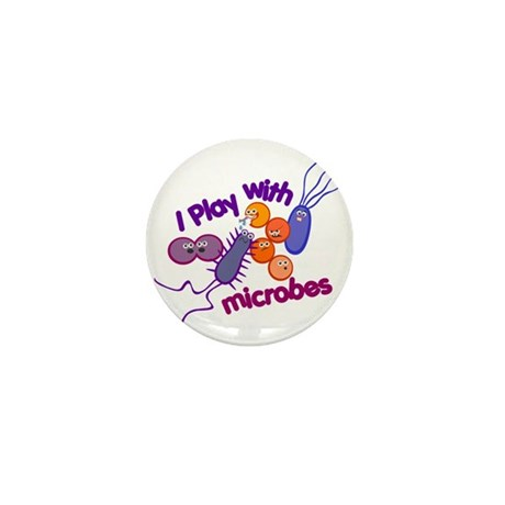 Play with Microbes Mini Button (10 pack)