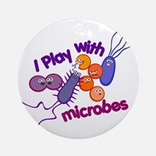 Play with Microbes Ornament (Round)