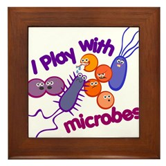 Play with Microbes Framed Tile