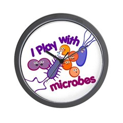Play with Microbes Wall Clock