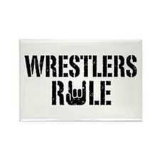 Wrestlers Rule Rectangle Magnet