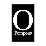 O Pompous Rectangle Sticker 10 pk)