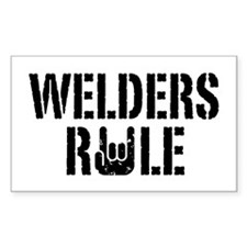 Welders Rule Rectangle Decal