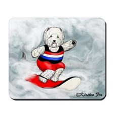 Westie Surfer Mousepad