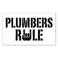Plumbers Rule Rectangle Decal