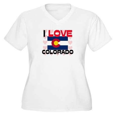 I Love Colorado Women's Plus Size V-Neck T-Shirt