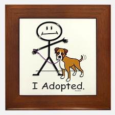 BB Boxer Adoption Framed Tile