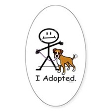BB Boxer Adoption Oval Decal