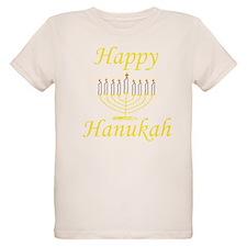 Happy Hanukah Menorah T-Shirt