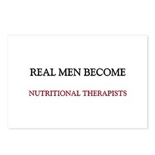 Real Men Become Nutritional Therapists Postcards (