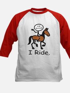 Horseback Riding Kids Baseball Jersey