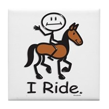 Horseback Riding Tile Coaster