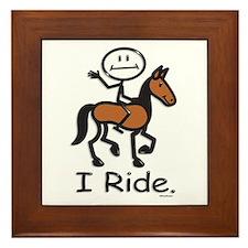 Horseback Riding Framed Tile