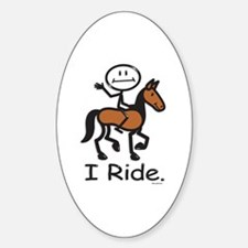 Horseback Riding Oval Decal