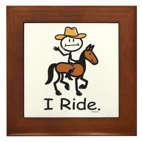Western horse riding Framed Tile