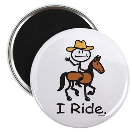 "Western horse riding 2.25"" Magnet (100 pack)"
