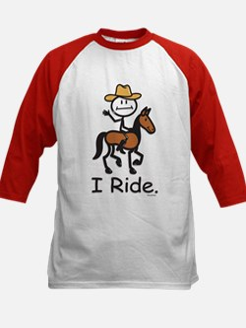 Western horse riding Kids Baseball Jersey