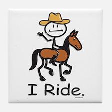 Western horse riding Tile Coaster