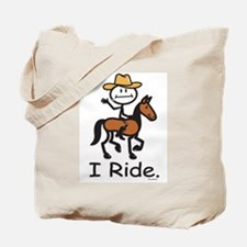 Western horse riding Tote Bag