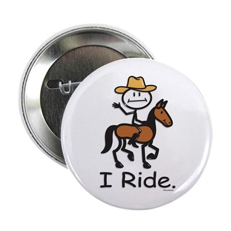 "Western horse riding 2.25"" Button (10 pack)"