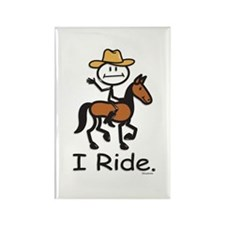 Western horse riding Rectangle Magnet