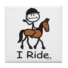English Horse Riding Tile Coaster