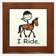 English Horse Riding Framed Tile
