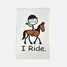 English Horse Riding Rectangle Magnet