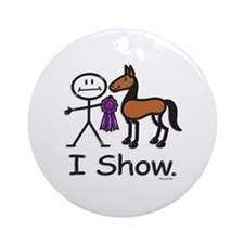 Horse Show Ornament (Round)