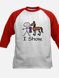 Horse Show Kids Baseball Jersey