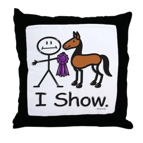 Horse Show Throw Pillow