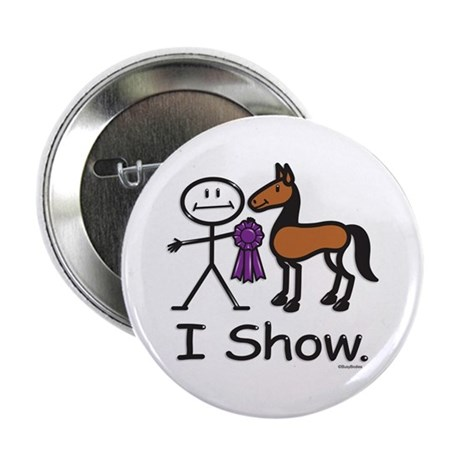 """Horse Show 2.25"""" Button (100 pack)"""