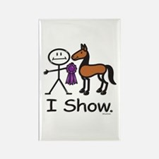 Horse Show Rectangle Magnet