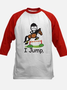 Horse Jumping Kids Baseball Jersey