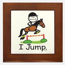 Horse Jumping Framed Tile
