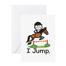 Horse Jumping Greeting Card