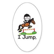 Horse Jumping Oval Decal