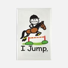 Horse Jumping Rectangle Magnet